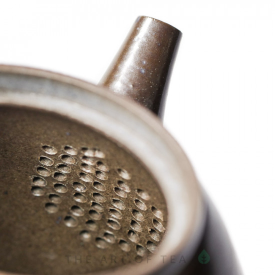 Чайник к87 с боковой ручкой, глина, глазурь, 195 мл