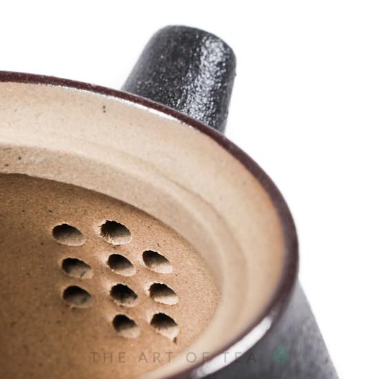 Чайник к83, черный, глина, глазурь, 125 мл