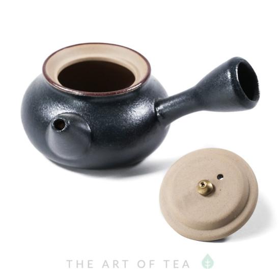Чайник к81, зеленый, глина, глазурь, 115 мл