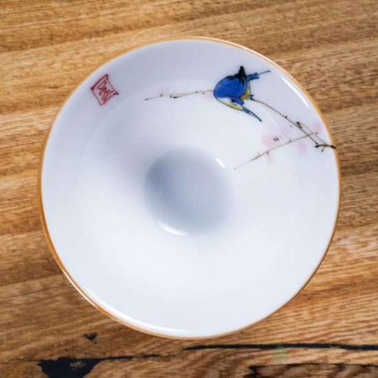 Пиала-конус Синяя Птица #360, фарфор, 65 мл