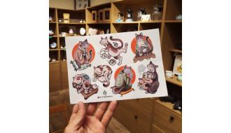 Дарим стикер чайного кота к каждому заказу!