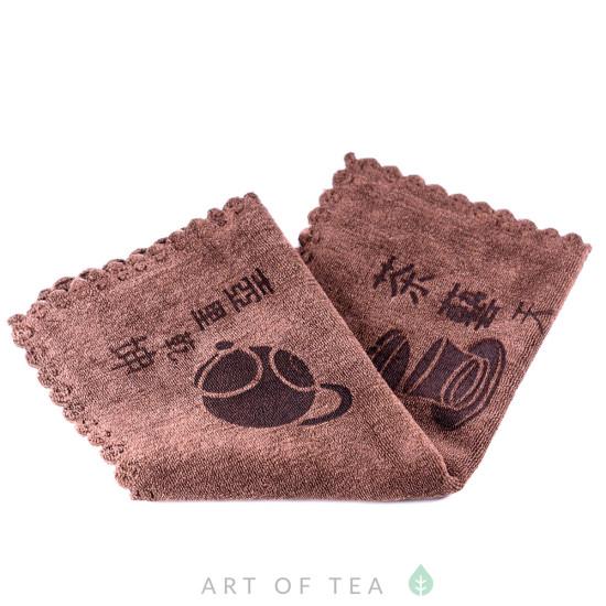 Чайное полотенце Гайвань, коричневое, 30*40 см