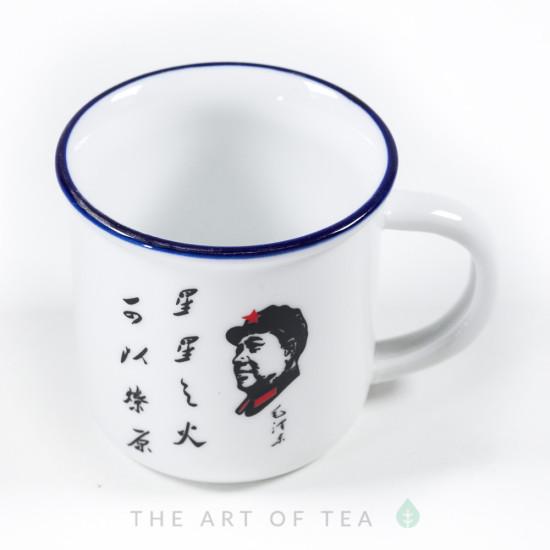 Чашка, Мао, большая, фарфор, 150 мл
