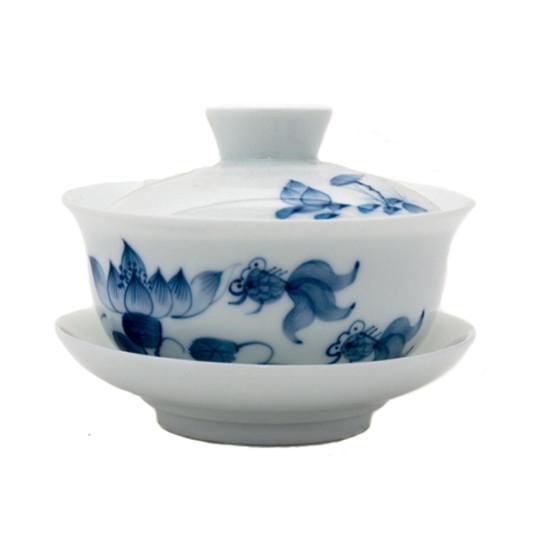 """Гайвань """"Синие Рыбки"""", ручная роспись, 180 мл"""