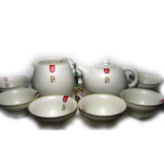 Набор для чайной церемонии, фарфор Жу Яо, 8 предметов
