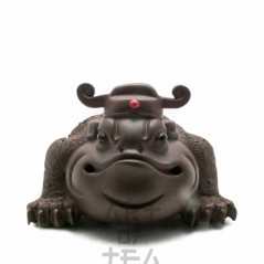 Чайная фигурка Жаба с Короной, глина