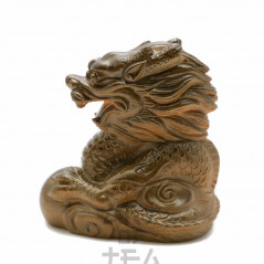 Чайная фигурка Золотой Дракон, малый, меняет цвет