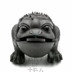 Чайная фигурка Жаба Богатства, черная, глина