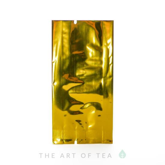 Пакет для чая малый, золотой, 5*11 см