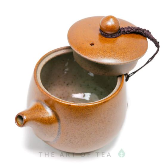 """Чайник """"Золотой"""", глина, глазурь, 180 мл"""