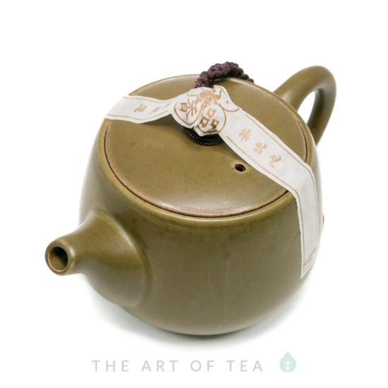 Чайник Зеленый, керамика, глазурь, 180 мл