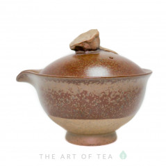 """Гайвань """"Древность"""" с носиком, бордовая, керамика, глазурь, 150 мл"""
