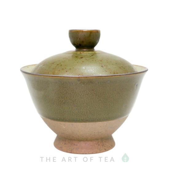 """Гайвань """"Древность"""", зеленая, керамика, глазурь, 170 мл"""