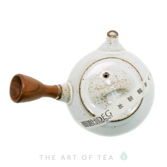 Чайник Ши Пяо с боковой ручкой, белый, глина, глазурь 210 мл