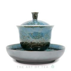 Гайвань Гун Фу, голубая, глина, глазурь, 180 мл