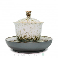 Гайвань Гун Фу, белая, глина, глазурь, 180 мл