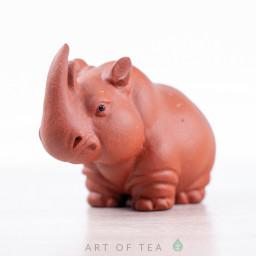 Фигурка Носорог #4, исинская глина, 8 см