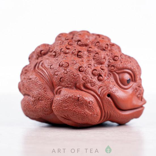 Фигурка Кучерявая Жаба, исинская глина, 7 см
