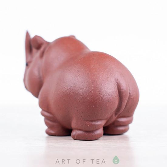 Фигурка Носорог #2, исинская глина, 8 см