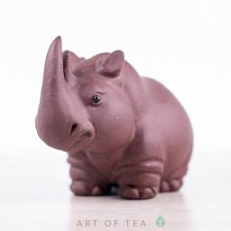 Фигурка Носорог #3, исинская глина, 8 см