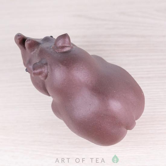 Фигурка Носорог #1, исинская глина, 8 см