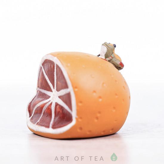 Фигурка Лягушка на апельсине, 4 см
