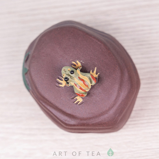 Фигурка Лягушка на скале #2, 4 см