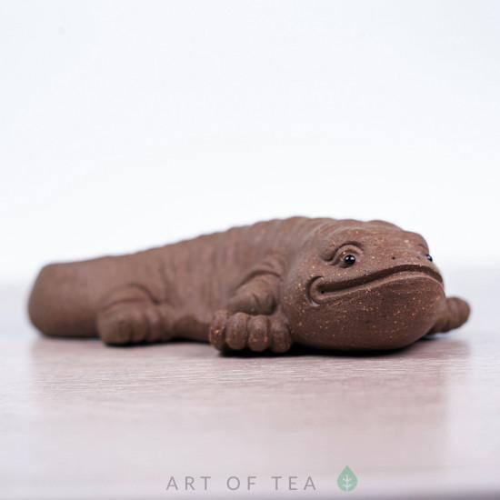 Фигурка Саламандра серая, исинская глина, 13 см