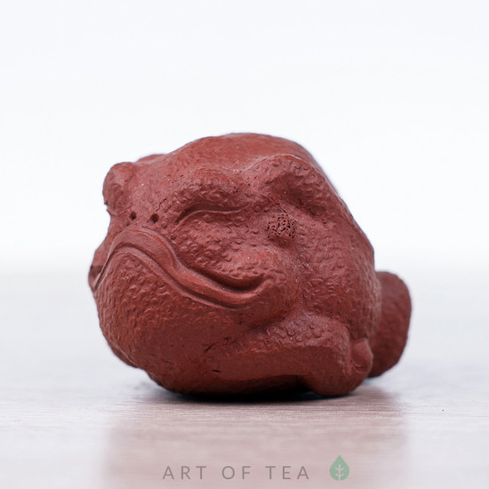 Фигурка Спокойная жаба, исинская глина, 4 см