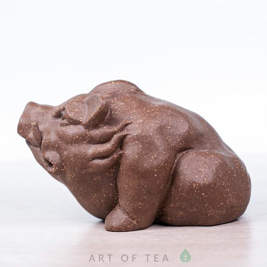 Фигурка Дикий Кабан, исинская глина, 9 см