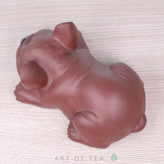 Фигурка Бульдог, исинская глина, 8 см