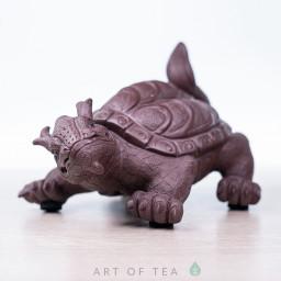 Фигурка Черепаха-дракон, исинская глина, 12 см
