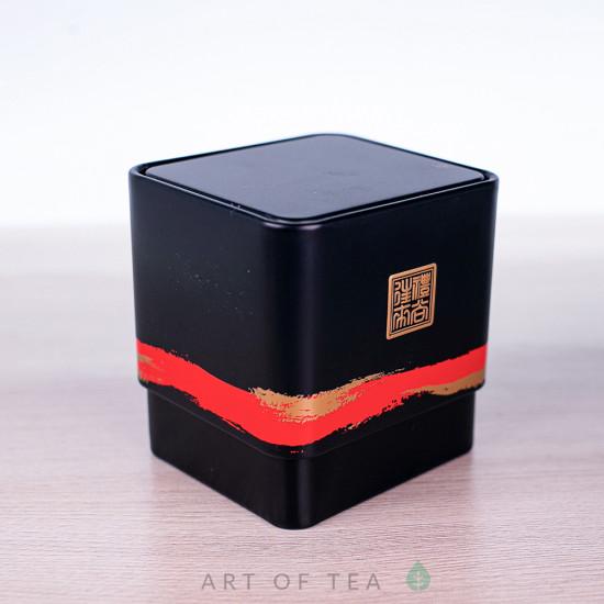 Баночка для чая Куб, чёрная, 6*6,5*7 см