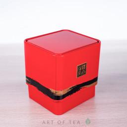 Баночка для чая Куб, красная, 6*6,5*7 см