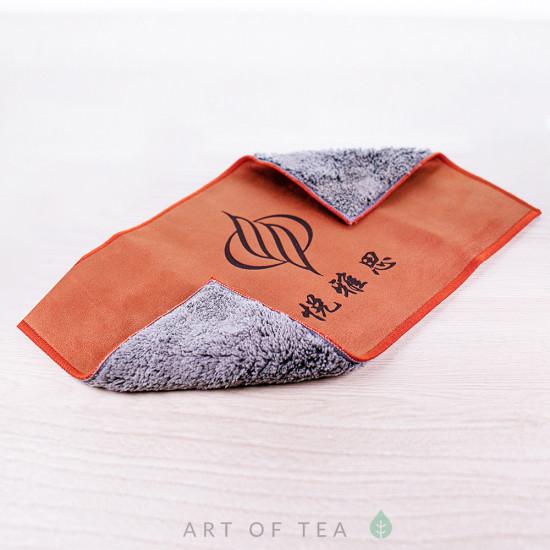 """Чайное полотенце """"Единорог"""", коричневое,  18*28 см"""