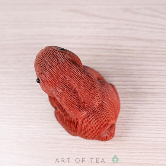 Фигурка Зайчонок, исинская глина, 4 см