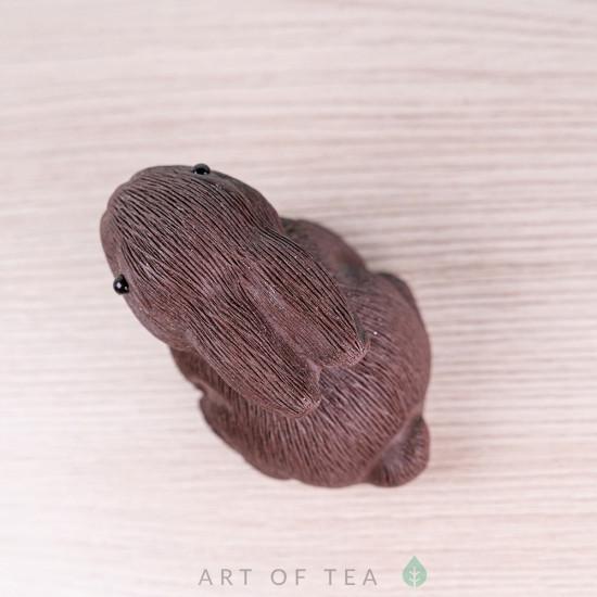 Фигурка Зайчонок #2, исинская глина, 4 см