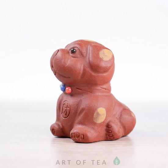 Фигурка Собака в горошек, рыжая, 7 см
