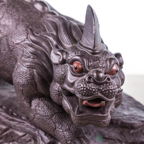 Фигурка Суань-Ни чёрный, исинская глина, 20 см