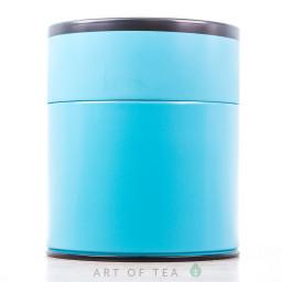 Банка для чая Цилиндр, голубая, 8,5*10 см