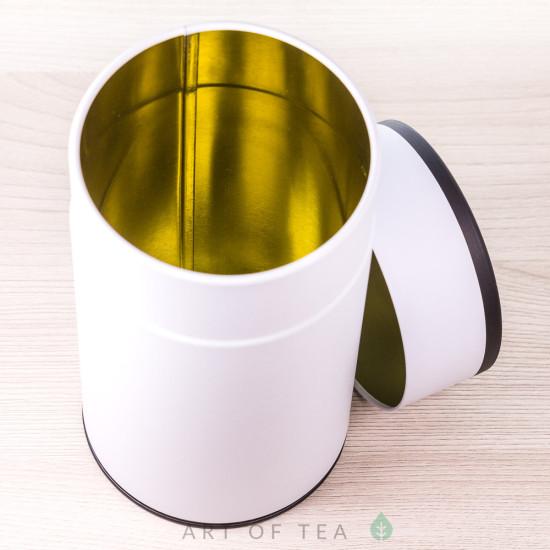 Банка для чая Цилиндр, белая, 8,5*15 см