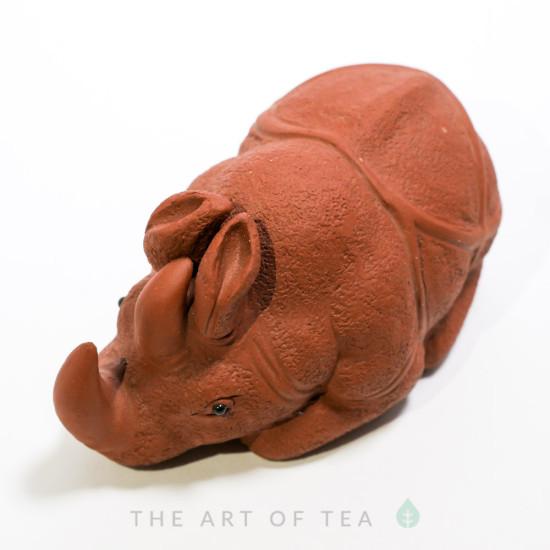 Чайная фигурка Носорог, глина
