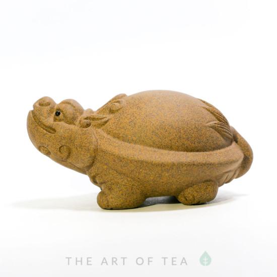 Чайная фигурка Песочная Черепаха-Дракон, глина