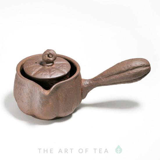 Чайник-чахай Тыква, с боковой ручкой, глина, 250 мл