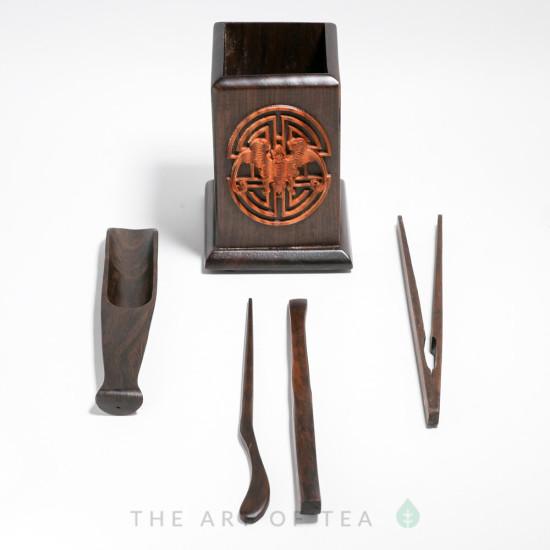 Инструменты для чайной церемонии Летучая Мышь, дерево