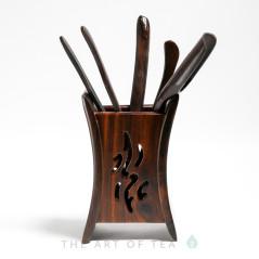 Инструменты для чайной церемонии Иероглиф, дерево