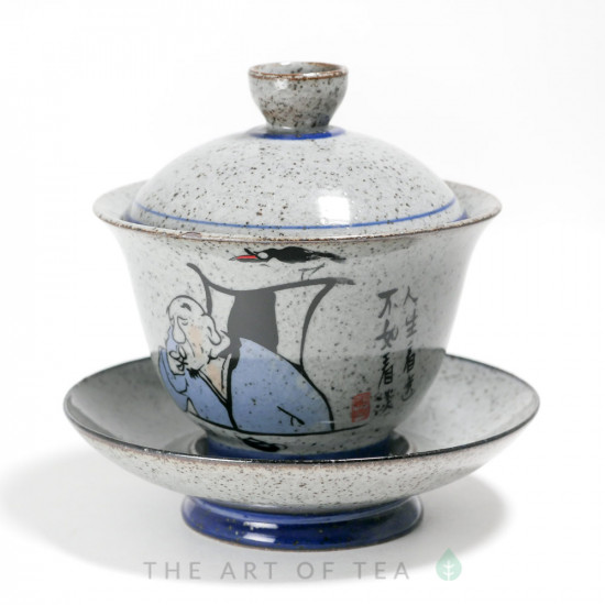 Гайвань Мужик и Птица, керамика, глазурь, 185 мл