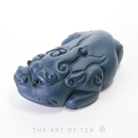 Чайная фигурка Пи Сю, синяя глина