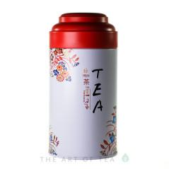 """Баночка для чая """"Чай"""", красная, 9*18 см"""