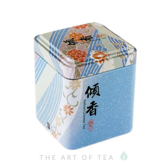 Баночка для чая Голубая, 7*7*8,5 см